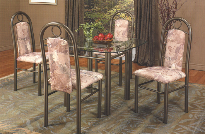 Table 5pc Matte Brown