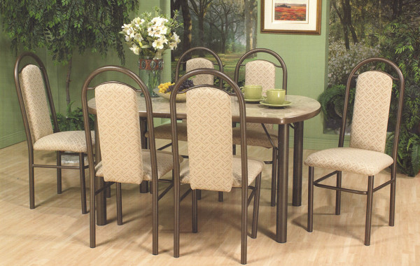 Table 7pc Matte Brown 7080